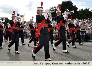 Marching bands from Germany, Belgium and The Netherlands performed in the Fruitcorso Tiel, Netherlands (2009).