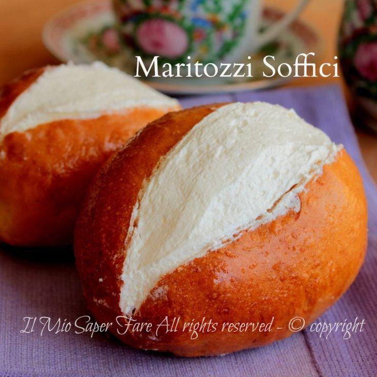 Maritozzi ricetta facile soffici e golosi farciti con panna #RICETTA #MARITOZZI