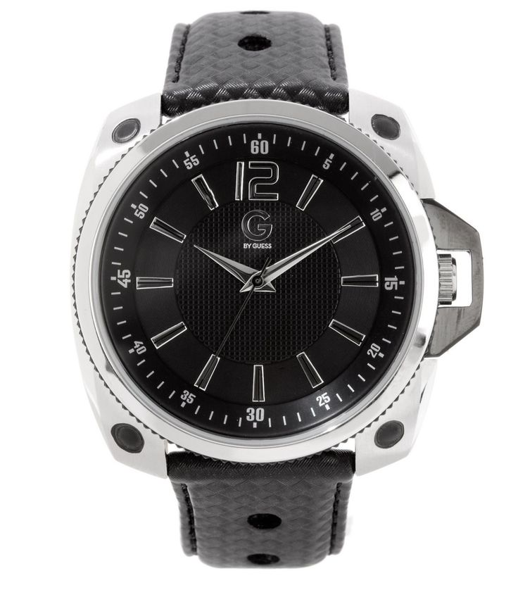 g by guess black sport menu0027s watch strap leather collection