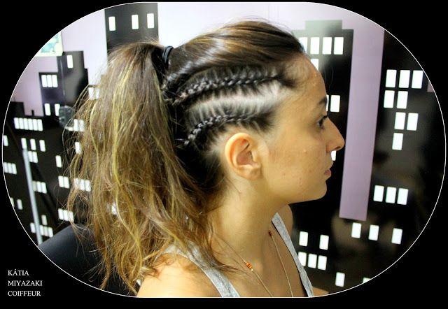 Katia Miyazaki Coiffeur - Salão de Beleza em Floripa: ponytail - braided pigtail - dyrti blonde -  medie...