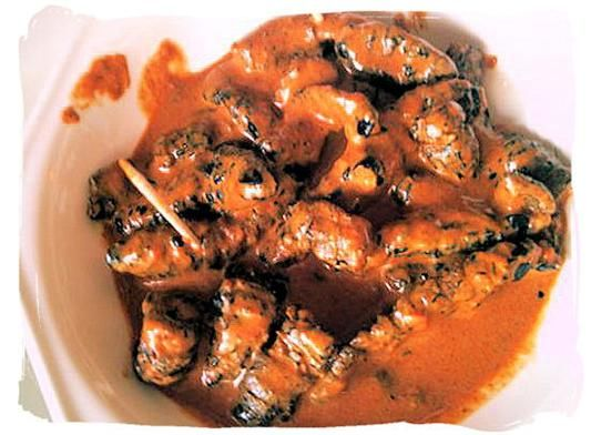 Mashonzha, cooked Mopani worms spiced with chilli - South Africa's Traditional African Food