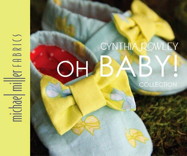 """making it fun :: Cloth Baby Girl Booties in Cynthia Rowley Spring """"Oh Baby"""" fabric line for Michael Miller Fabrics; photo and style by Trenna Travis Design Studio"""