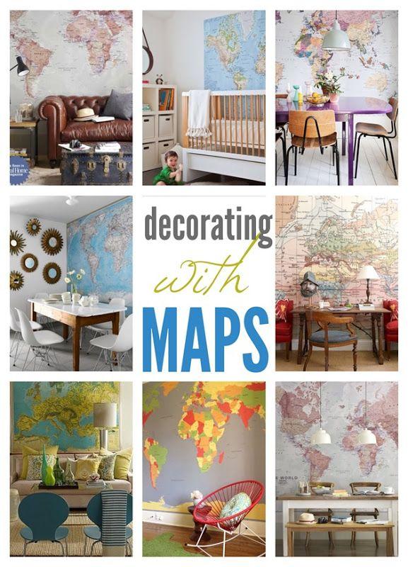 Wall maps home decor