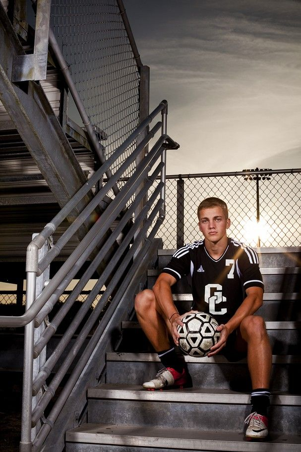 Soccer Photography Poses | Gulf Coast High School senior Clay Curvin poses for a portrait on the …