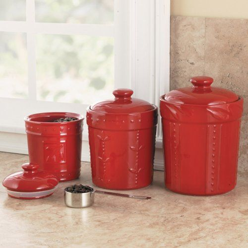 cool Signature Housewares Sorrento Collection Set of 3 Canisters