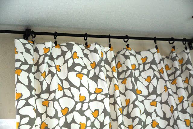 Brittany's Joy: no sew, no hem curtains // diy