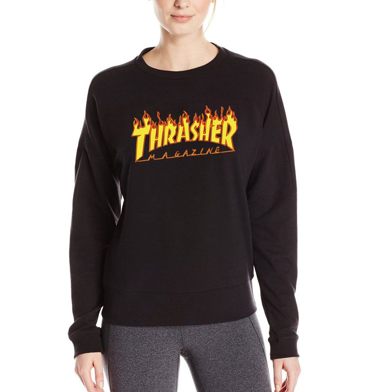 Flame Blaze Thrasher sweatshirt women streetwear loose mma tracksuit 2017 funny brand clothing autumn fleece harajuku hoodies