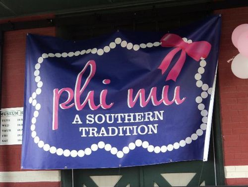 phi mu southern tradition banners