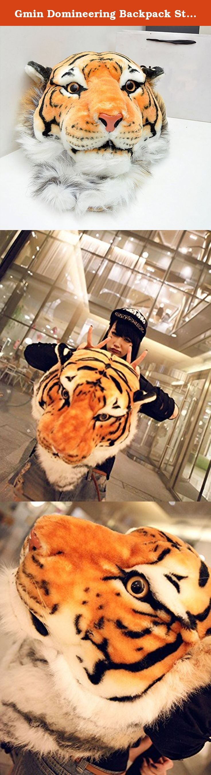 Gmin Domineering Backpack Stuffed Tiger Head 3D Simulation Personalised Shoulder Bag(m/39*37*50cm). • Size: 39*37*50CM[L*W*H] • Weight: 0.45KG • Wool material is acrylic material inside the tiger skull model is a high-density foam styrofoam • Very cool and personalised design • High simulation, play cool and act fun!.
