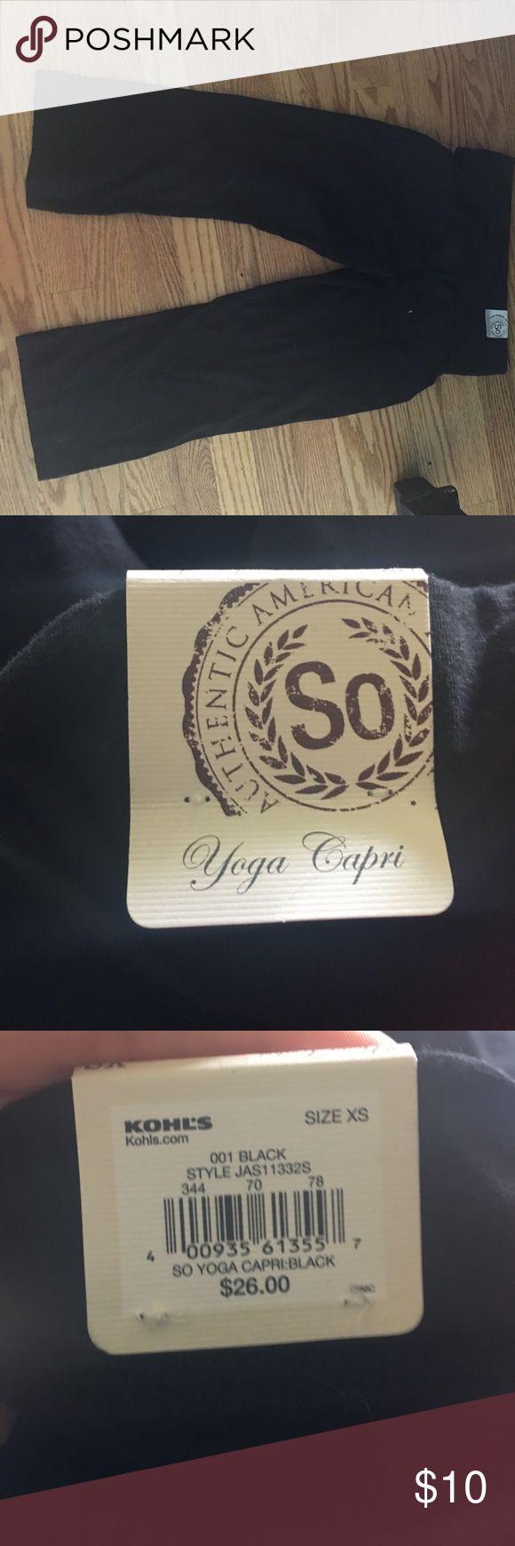 So black yoga Capri XS NWT So black nwt yoga Capri. So Pants Capris