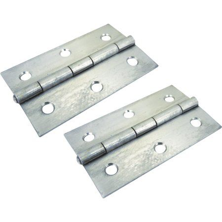 SeaChoice (2) Stainless Steel Fast Pin Type Butt Hinges, Silver