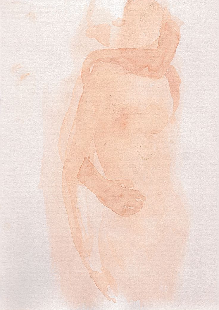 Wow. For monochromatic watercolor with a heavily abstract touch, this painting is phenomenal. There really are no lines but it instills imagery, memory, and eroticism in just a few different tones. I am impressed.