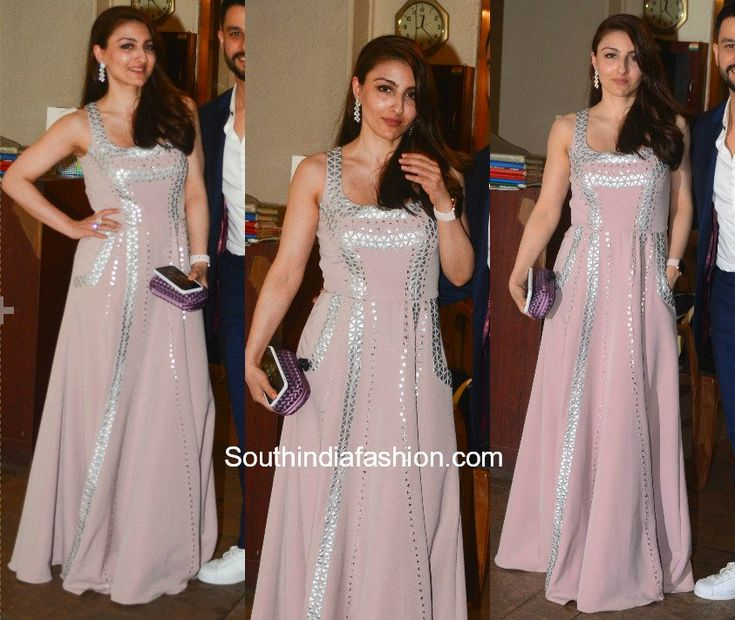 SPOTTED: Soha Ali Khan and Kunal Khemu   Soha Ali Khan and Kunal Khemu were snapped at Saif Ali Khans Christmas dinner. She wore a pastel pink gown with silver detailing and carried a lavender clutch by Bottega Veneta. Whereas Kunal Khemu was dressed in a navy blue and white suit. The couple looked good together!  The post SPOTTED: Soha Ali Khan and Kunal Khemu appeared first on South India Fashion.  from South India Fashion…