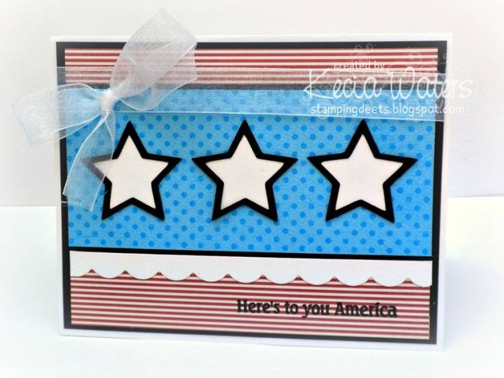 Here's to you, America! by LittleSeaOtter - Cards and Paper Crafts at Splitcoaststampers: Photos, Galleries, America, Paper Crafts, Cards, Littleseaotter