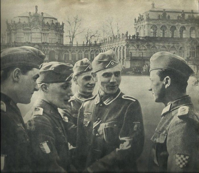 French soldiers of SS Charlemagne in Dresden
