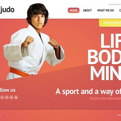 Martial Arts Website Template