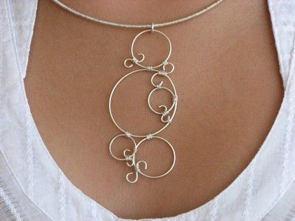 2686 best wire jewelries pendants necklaces images on circle pendant aloadofball Choice Image