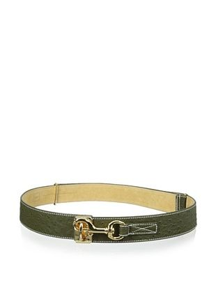 71% OFF Yul Taylor Women's Stable Latch Belt, Olive, One Size