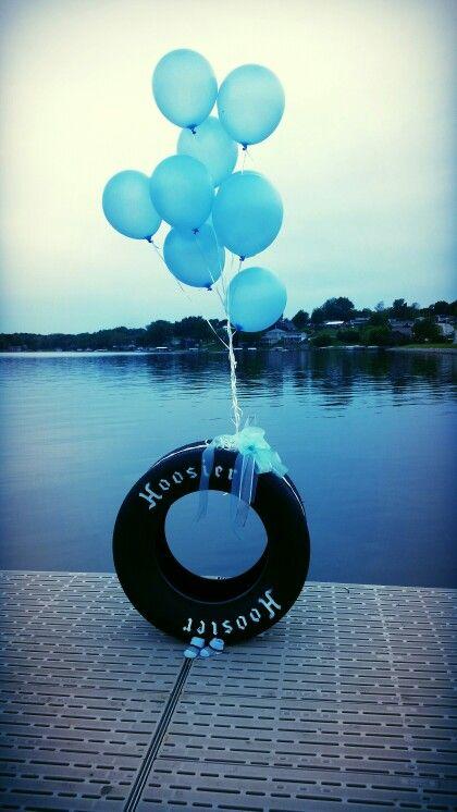 Baby boy announcement #racing #hoosier #boy
