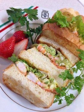 海老とアボカドディップのサンドイッチ* by お家シェフkaiya ...