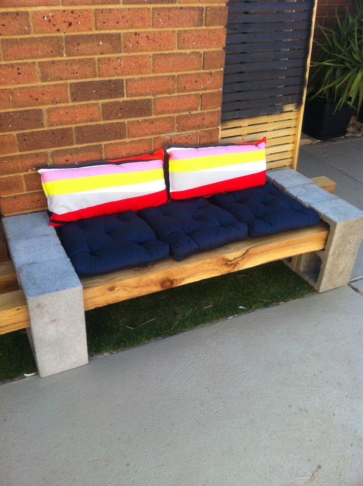 15 best images about unit 1 backyard bench seating on for Cinder block seating area