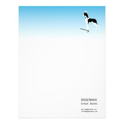Boston Great Dane Letterhead - white gifts elegant diy gift ideas