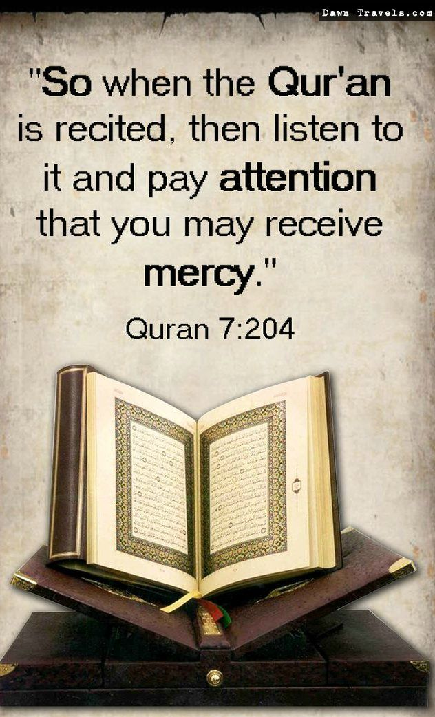Quran 7:204 ! For Umrah and Hajj Services from USA Visit Us On: http://goo.gl/g1HnE9 #Quran #Allah