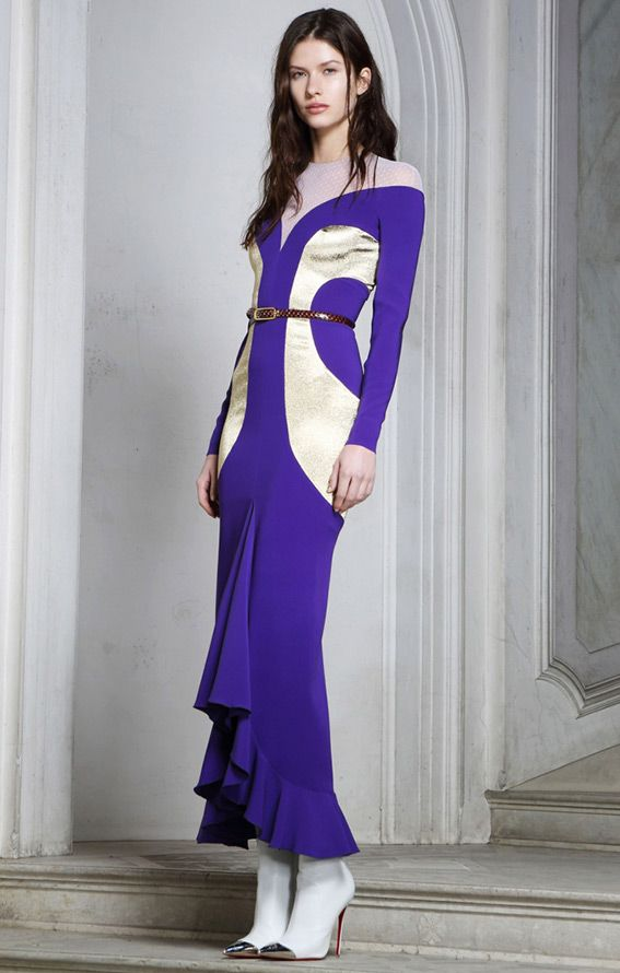 Alessandra Rich Фиолетовые платья 2014-2015