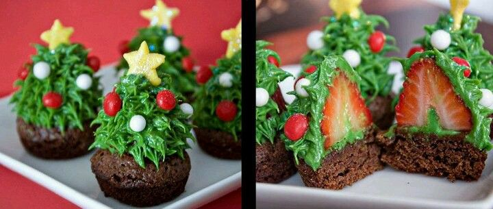 Festive Christmas cupcake idea