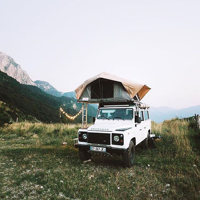 Offline is the new luxury. #getoutdoors #upknorth Take time to disconnect. Perfect camp setup at 5000 ft elevation amidst the Slovenian Alps. Shot by @alexstrohl