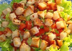 Рецепт-Постный салат след цезаря с сухариками | Постные блюда