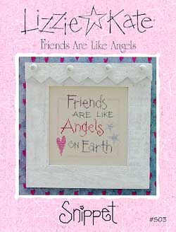 Lizzie Kate Friends Are Like Angels - Cross Stitch Pattern. From the new mini Snippets collection. What a perfect gift for your best friend: Friends are like An
