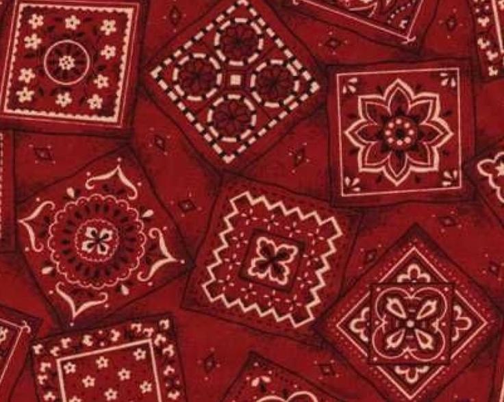 Red Bandana Bed Sheets