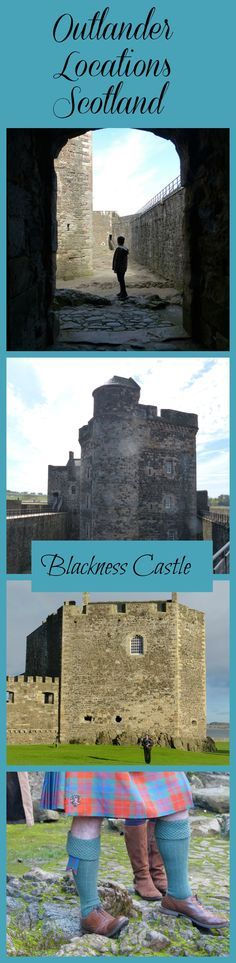 Ideas for fans of Diana Gabaldon's Outlander books to visit the Starz TV series locations in Fife including Culross and Falkland, and locations close to Fife such as Blackness Castle in West Lothian