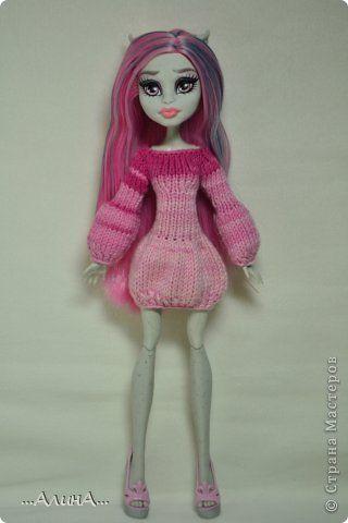 Кукольная жизнь Вязание спицами Описания вязаных платьев для кукол МХ Нитки Пряжа Пуговицы фото 4
