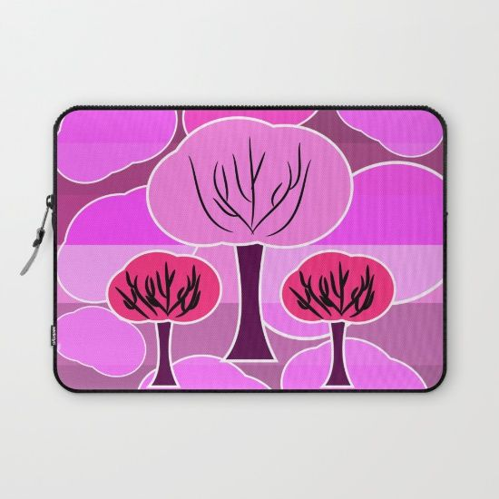 Protect your laptop with a unique #Society6 Laptop Sleeve. #pink #trees #pattern #kids #girls