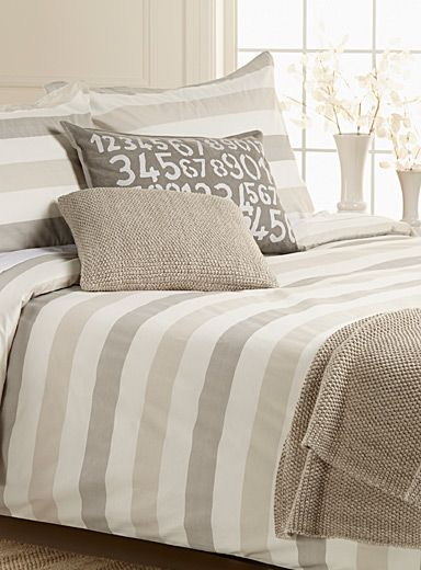 Thin chevron duvet cover set | Simons Maison | Duvet Covers Canada: Shop Online for a Duvet Cover & Sets | Simons