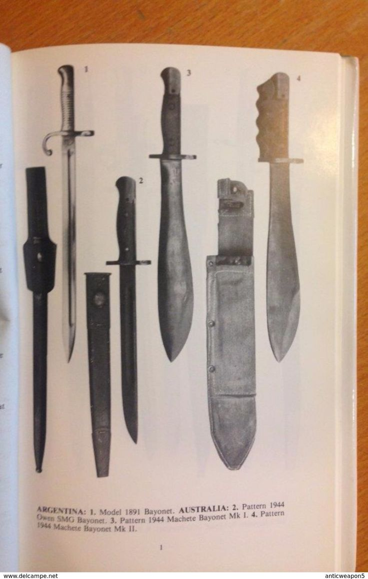 Armi bianche - Military book, World Bayonets, 1800 to the present. An illustrated reference guide for collectors. By Anthony Carter