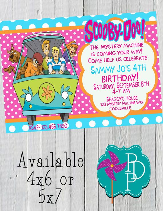 137 best Scooby Doo Party images – Scooby Doo Party Invitations