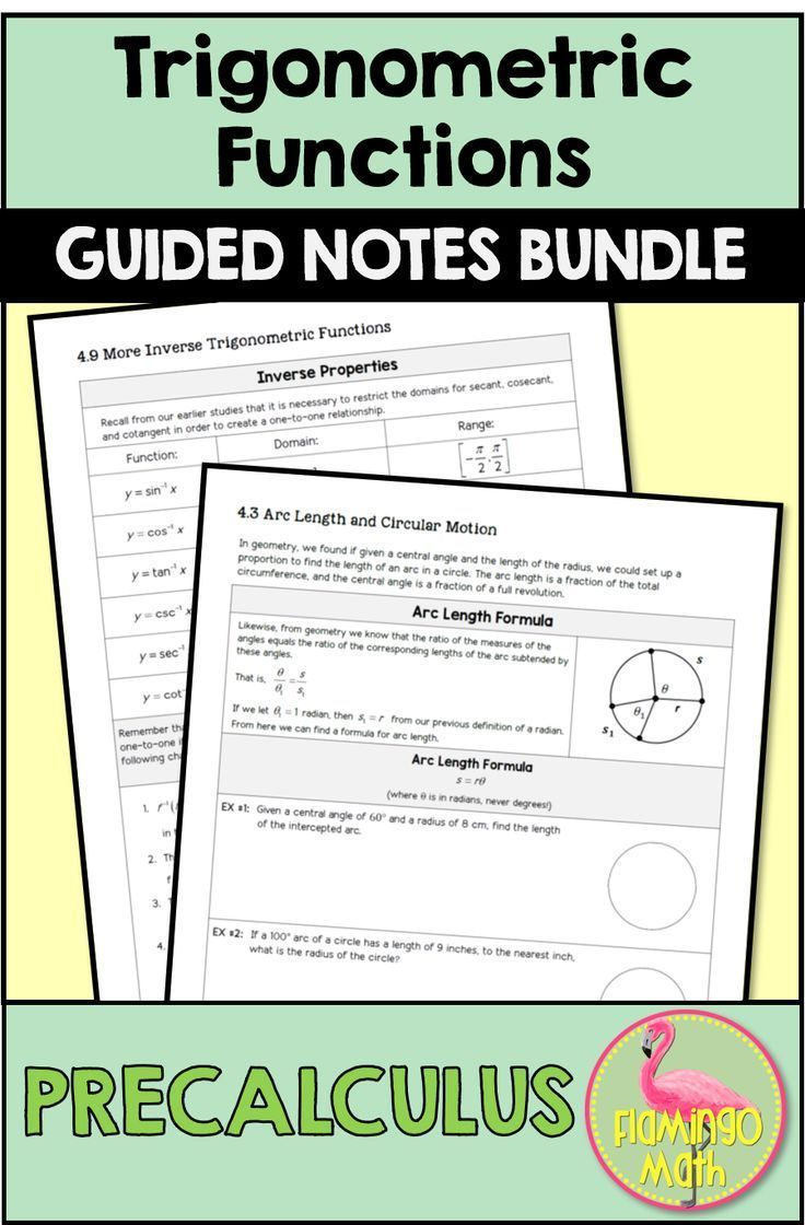 If You Prefer Guided Notes For Your Instructional Needs This Is A Full Unit On Trigonometric Functions For Y Precalculus Trigonometric Functions Guided Notes