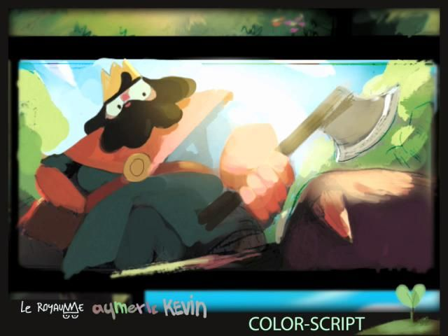 """LE ROYAUME Making Of - Aymeric KEVIN by Aymrc. Making of for """"Le Royaume"""" (The king and the Beaver), Student graduating film at Gobelins, L'école de l'image."""