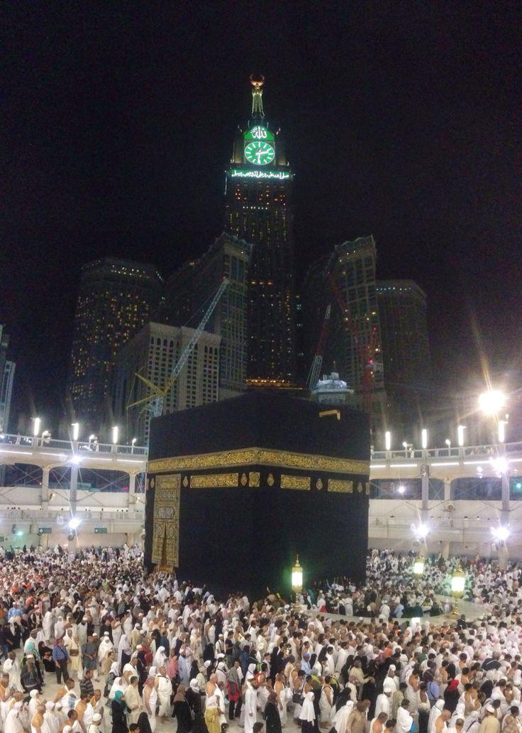 The Holy Ka'ba in Masjidil Haram, Mekkah.