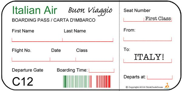 how to say ticket in italian