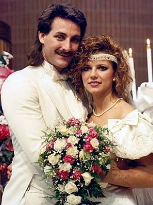 John And Martina McBride On Their Wedding Day