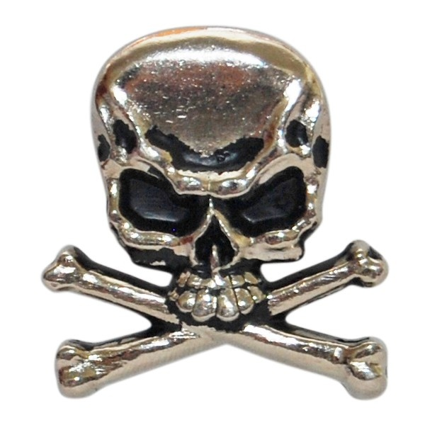 Skull And Crossbones Metal Badge.  $4.50