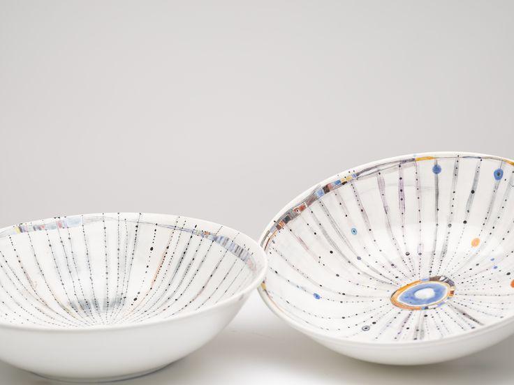 Vanessa Anastasopoulou , sea urchin. ceramic bowls, 36X10cm