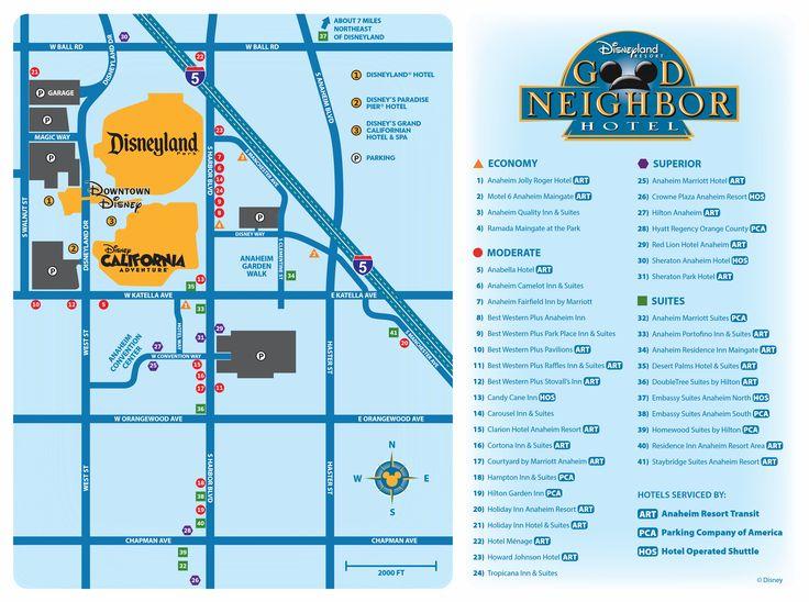 Disneyland Good Neighbor Hotels Map Rouydadnews Info