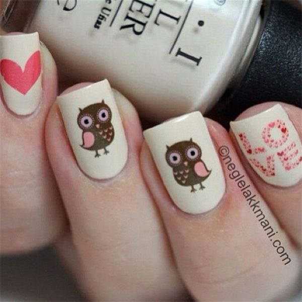 Nail Art Design Owl The Best Inspiration For Design And Color Of