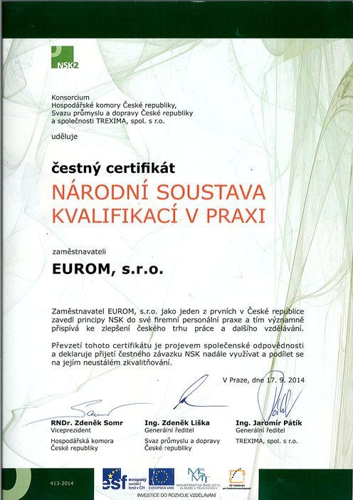 O spolecnosti EUROM Sales & s.r.o. - EUROM - Výrobky vysoké kvality a na vývoj strojû pro tlakové cištení