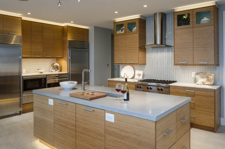 Bentwood cabinetry bamboo cabinets open floor plan for Bentwood kitchen cabinets